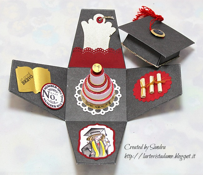Favorito Explosion box laurea tutorial – Graduation box – L'arte vista da me QB38