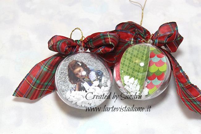 pallina di natale con foto personalizzata - christmas ball - l'arte